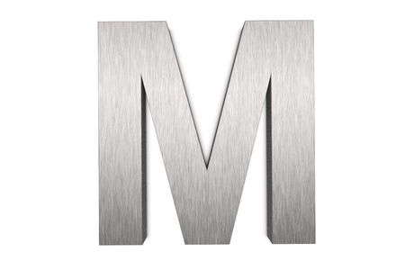Brushed metal letter M Stock fotó