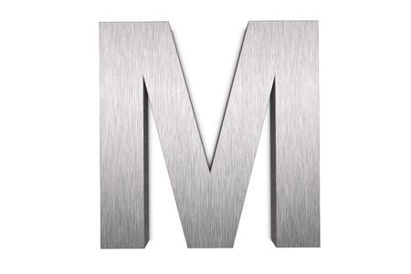 Namalowanych pÄ™dzlem metalowych litery m