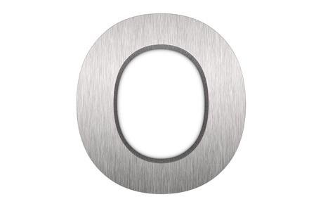 Namalowanych pÄ™dzlem metalowych litera o