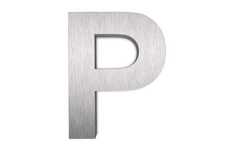 Namalowanych pÄ™dzlem metalowych litera p