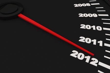 Odliczanie do nowego roku 2012 - prÄ™dkoÅ›ciomierza