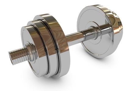 Chromed fitness equipment dumbbell weight  版權商用圖片