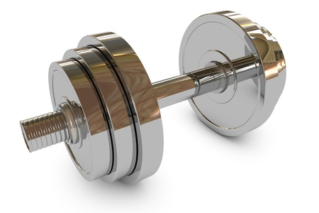 Chromed fitness equipment dumbbell weight  Stock Photo - 9004695