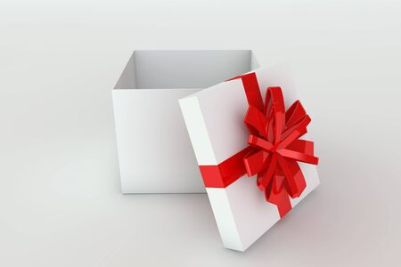 3D rendered illustration of a opened giftbox illustration