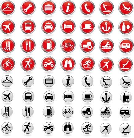 sleeping car: Travel buttons