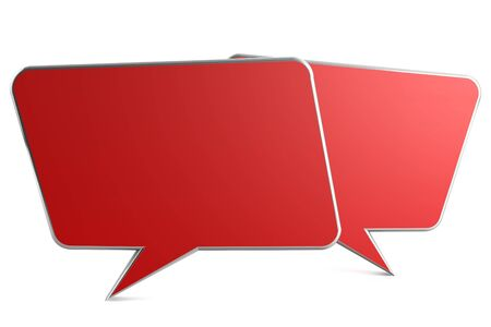 3d render of speech bubble on white backkground photo