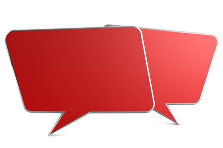 backkground: 3d render of speech bubble on white backkground Stock Photo