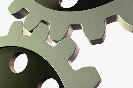 Illustration of a steel gear in 3d illustration