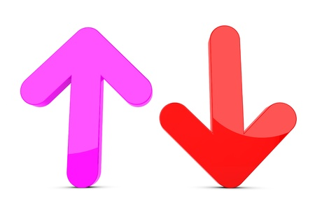 down arrow: 3d up and down arrow sign