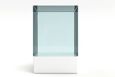 3d render of a empty display case