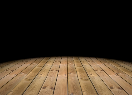 3d Empty Abstract Dark Room With A Wood Floor Stock Photo Picture