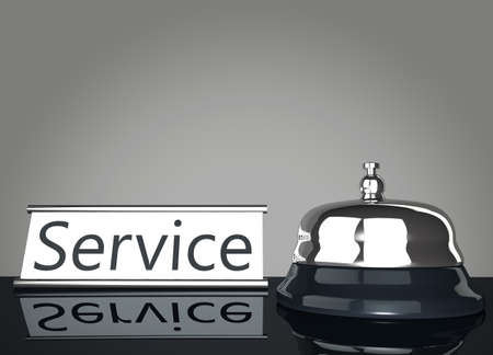 Service Bell with Service Sign mirroring on floor Stock Photo - 16484715