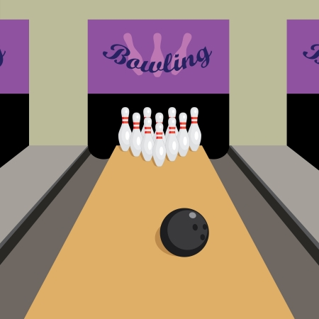 Image of place for play bowling game.
