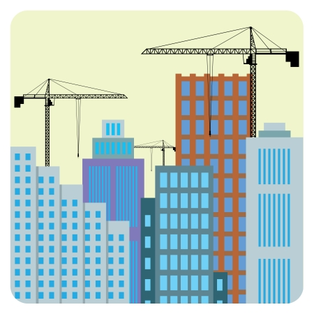 Illustration of buildings construction in the city. Stock Vector - 17906226