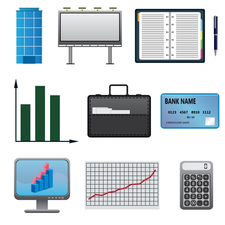 Set of business icons on the white background. Stock Vector - 18245419