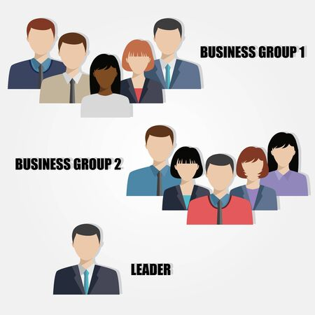 executive: business people group human resources flat vector illustration