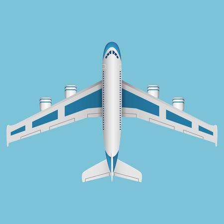 airplane: A vector airplane top view. Vector illustration.