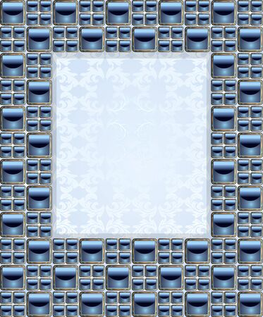 Mosaic Frame Vector