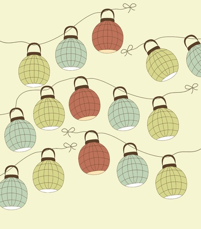 background with the Chinese lantern Vector