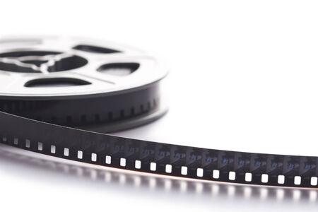8mm film reel on white background