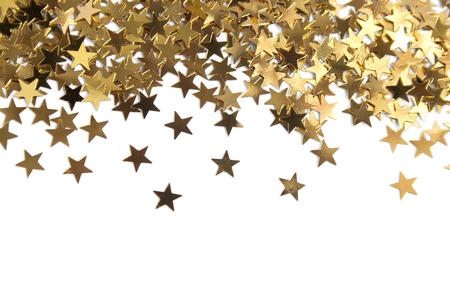 Goldene Sterne auf weißem Hintergrund Standard-Bild - 24259629