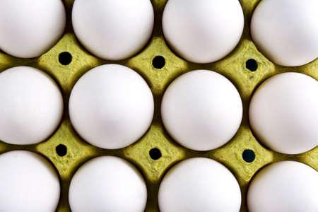 Organic eggs close up