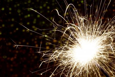 Beautiful sparkler with black  Stock Photo