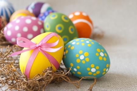 Colorful Easter eggs  Horizontal