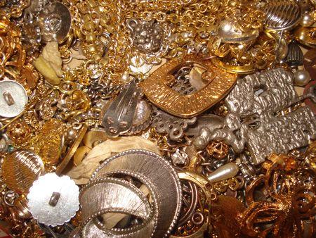bijoux: Fake gold Stock Photo