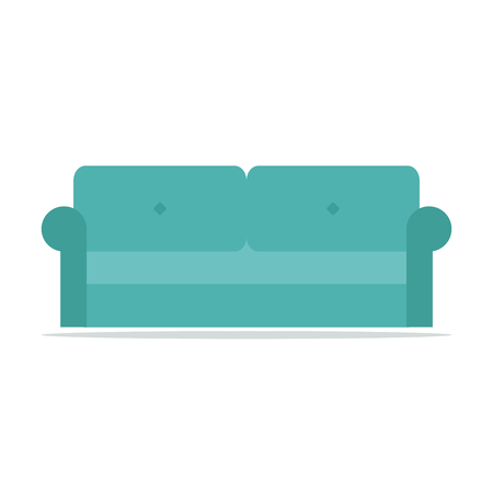 furniture design: Modern isolated couch icon. Furniture design.