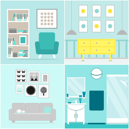Conjunto De Apartamentos. Colección De Muebles De Apartamento ...