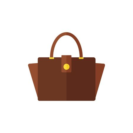 clutch: Bag isolated icon on white background. Flat vector illustration. Illustration