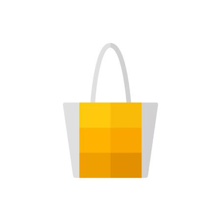Bag isolated icon on white background. Women bag. Flat vector illustration design. Ilustracja
