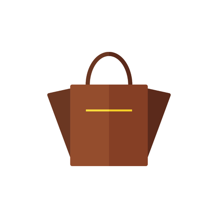clutch: Bag isolated icon on white background. Women bag. Flat vector illustration design. Illustration