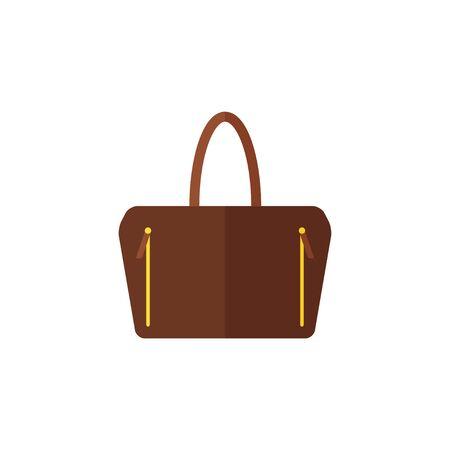 clutch bag: Bag isolated icon on white background. Women bag. Flat vector illustration design. Illustration