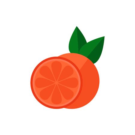 Grapefruit icon. Grapefruit icon isolated on white background. Flat style vector illustration. Ilustracja