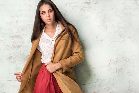 brazilian ethnicity: Fashionable young african american woman posing in studio.