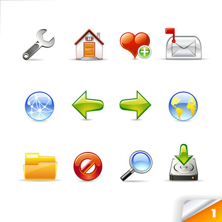 icon set 1  Web