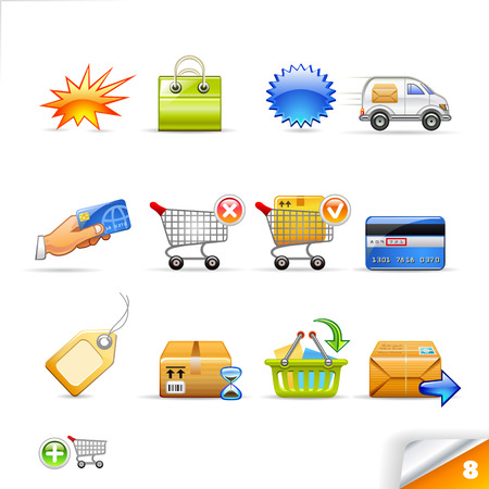 icon set 8  E-commerce