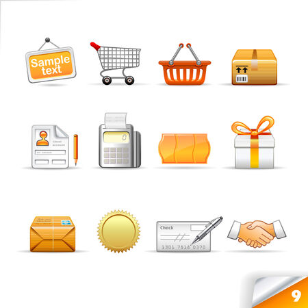 icon set 9  E-commerce Illustration