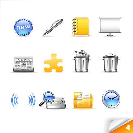 icon set 4  Web Stock Vector - 5162709