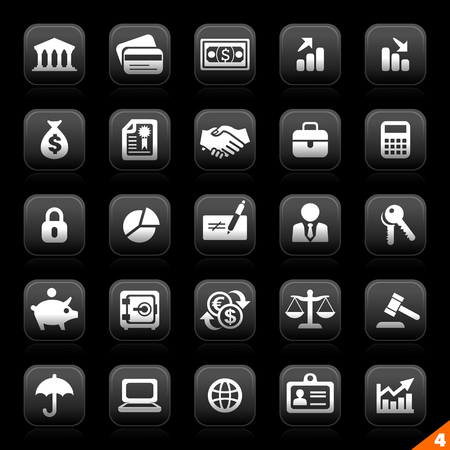 moon series buttons - set 4 - finance