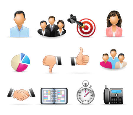 Business and Office - Professional icon set Illustration