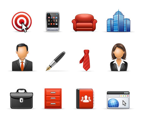 Business and Management - Professional icon set Illustration