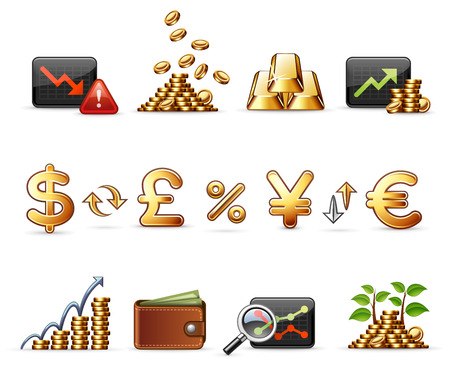 Finance, Money and Economy - Professional icon set