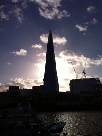 shard: The Shard in silhouette