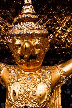 Garuda statue of Grand palace Bangkok, Thailand Stock Photo