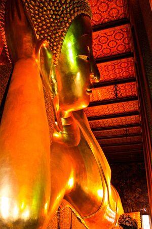 Buddha statue of Wat Pho Bangkok, Thailand Stock Photo