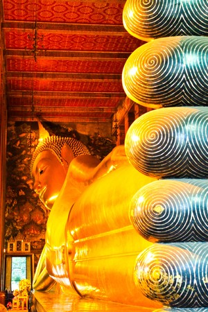 Buddha statue of Wat Pho Bangkok, Thailand Stock Photo - 7352518