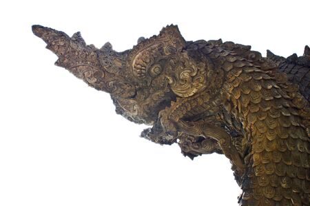 Naga statue of Thailand. Stock Photo